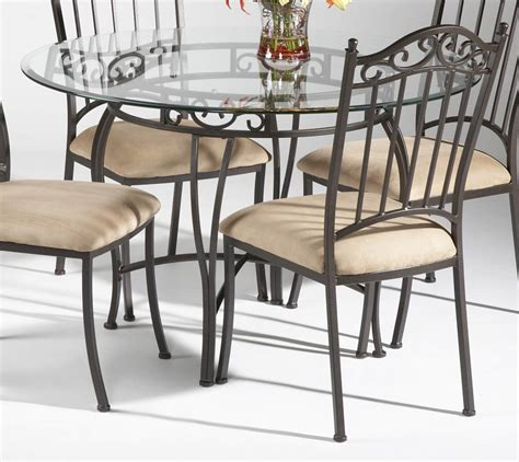 glass table with 4 chairs dining room interesting round glass dining table for 4