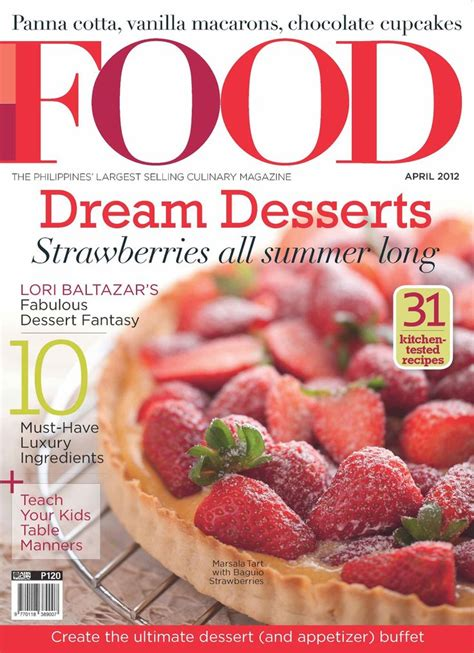 mag cuisine food magazine cover desserts magazines fonts colors and the o 39 jays