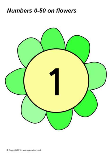 numbers    flowers sb sparklebox