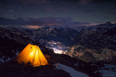 Winter Camping Above Ouray Colorado February 2014