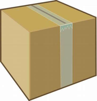 Box Cardboard Clipart Boxes Clip Cliparts Package