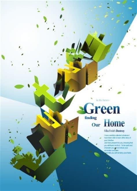 green environmental protection poster background