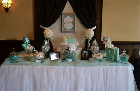 tiffany buffet table ls breakfast at tiffany 39 s bridal shower candy buffet table