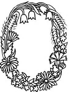 Flower Alphabet Letters Coloring Pages