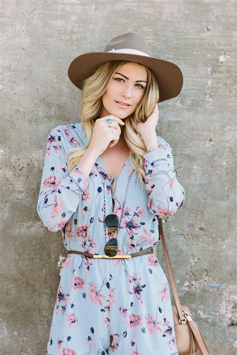 House of Harlow 1960 Floral Long Sleeve Romper from Revolve