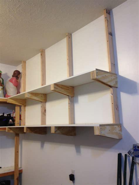 wall mounted garage shelving diy diy garage shelves for your inspiration garage storage