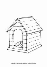 Kennel Colouring Dog Farm Coloring Drawing Animal Doghouse Animals Dogs Printable Google Activity Template Colour Sketch Drawings Activityvillage Houses Templates sketch template