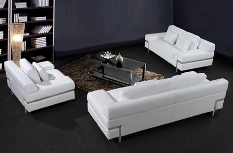 white leather sofa set divani casa clef modern white leather sofa set
