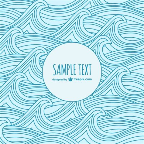 wave template waves sketch template vector free