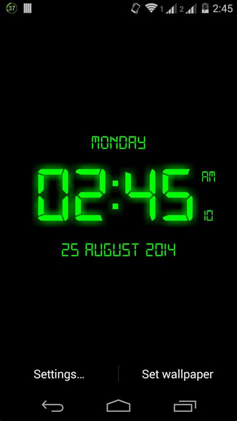 Digital Lock Wallpaper by Led Digital Clock Live Wallpaper Appstore For