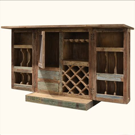 distressed wood wine cabinet rustic old reclaimed distressed wood bottle holder wine