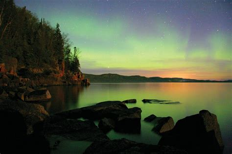 northern lights explained      lake