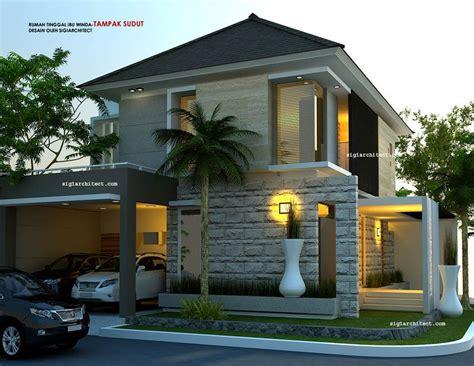 denah rumah hook  lantai minimalis desain rumah terbaru