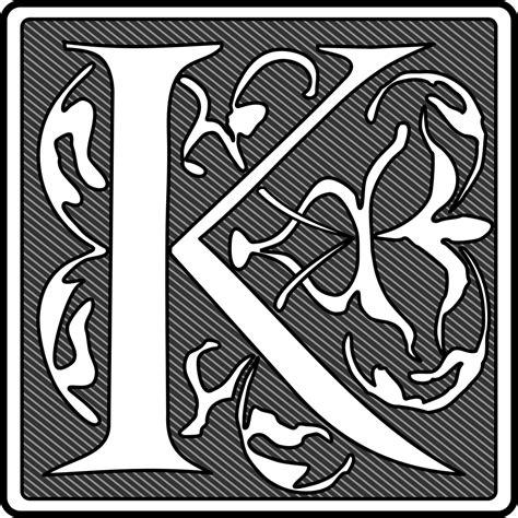 OnlineLabels Clip Art - Remix Of Initial K
