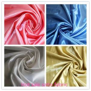 Spannbettlaken Polyester Satin : polyester heavy satin fabric for ladys dress buy 100 ~ Michelbontemps.com Haus und Dekorationen
