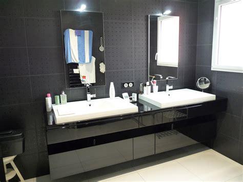meuble salle de bain noir laque meuble salle de bains laque noir brillant artibois