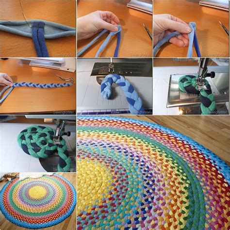 how to make a braided rug weaved t shirt rug f