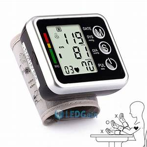 Automatic Digital Wrist Blood Pressure Monitor Bp Cuff