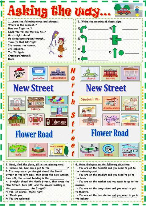 Asking The Way Worksheet  Free Esl Printable Worksheets Made By Teachers