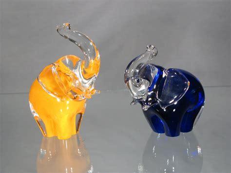 el 233 phant murano verre murano 233 l 233 phant petit en cristal