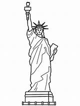 Liberty Statue Drawing Clipart Library Coloring Clip Pages sketch template
