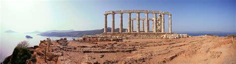 Panorama Cape Sounion, Poseidon-Tempel, Griechenland, Juni 07