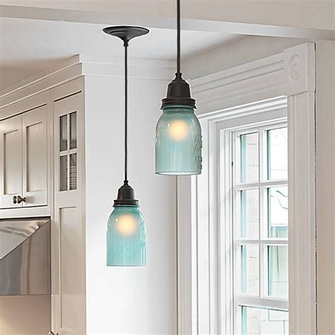 jar pendant lights a cozy kitchen with more light