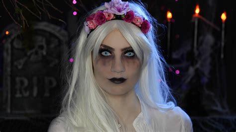 video glam ghost halloween makeup tutorial