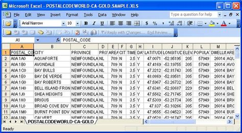 Download Canadian Postal Code Database (gold Edition) May.2011