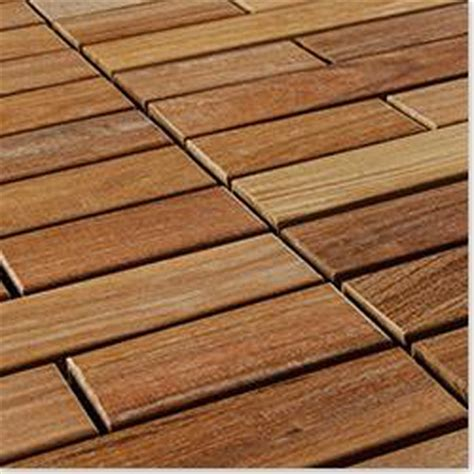 flexdeck 10082192 ipe chagne interlocking deck