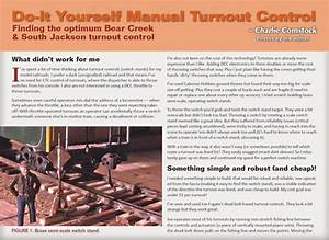 Build Your Own Manual Turnout Throws
