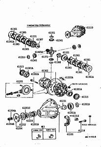 Rear Axle Housing  U0026 Differential For 1992