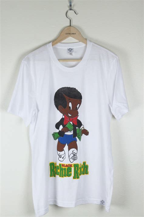 black richie rich logo   shirt luxpiration