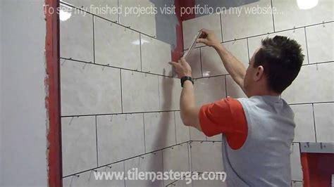 part  shower wall tile installation diy