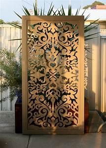 paravent fur garten 15 ideen fur einen beweglichen With französischer balkon mit garten paravent metall