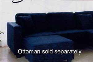 Decorating around a navy blue sofa infobarrel for Navy blue microfiber sectional sofa