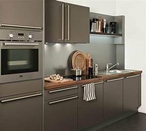 Hotte Encastrable Plan De Travail : cuisine caramel avec une hotte tiroir darty photo 9 20 ~ Dailycaller-alerts.com Idées de Décoration