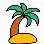 Tree Palm Island Summer Icon Icons Iconfinder