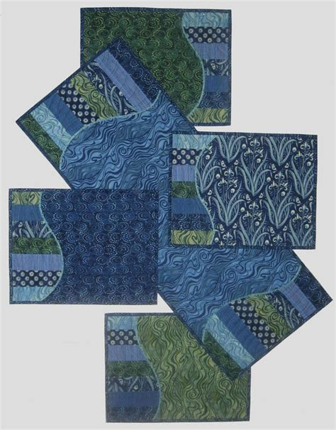 quilted placemats patterns waves quilt runners placemats