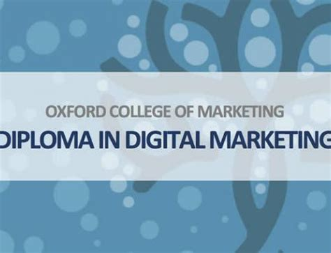 Diploma In Digital Marketing by The Marketing Mix Product And Brand Oxford College Of