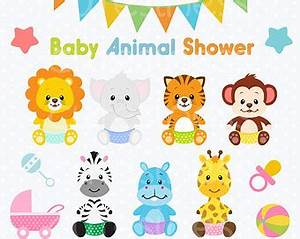 Baby animal clip art | Etsy