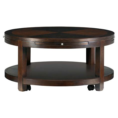 round coffee table with shelf round cocktail table