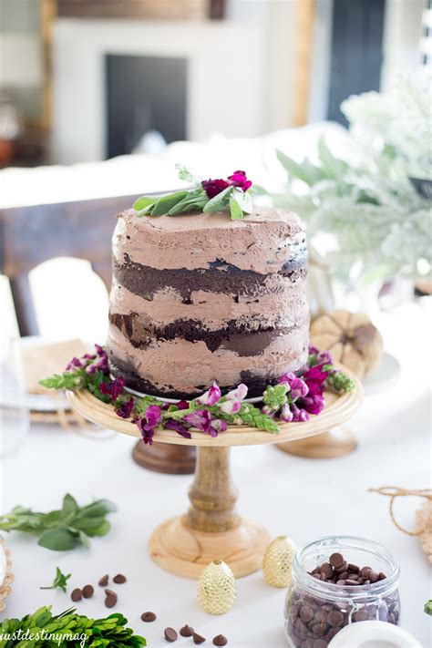 delicious chocolate naked cake  fall  destiny