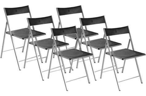 lot 6 chaises noires lot de 6 chaises pliantes noires bilbao chaise pliante