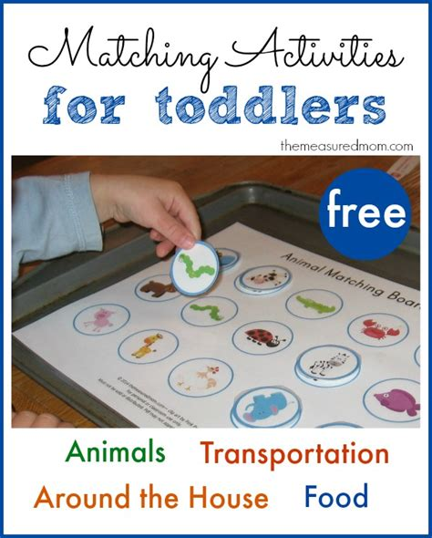 Printable Free Matching Activities For Toddlers  The Measured Mom