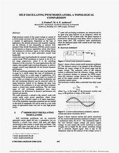 Self Oscillating Pwm Modulators  A Topological Comparision