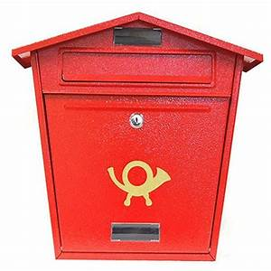 arboria post box vintage mailbox for house mounted outdoor With secure mail letter boxes