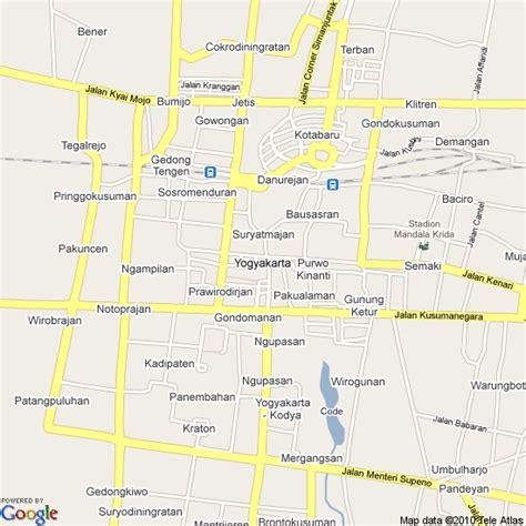 yogyakarta indonesia map google