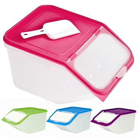 dry food container  scoop large storage plastic cereal