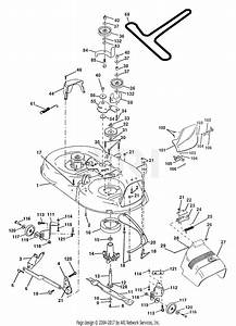 Poulan Pp145h42 Tractor Parts Diagram For Mower Deck